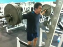 Peter doing squats 315 lbs 143Kg